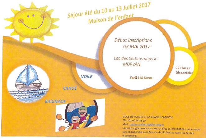 flyer camps primaire